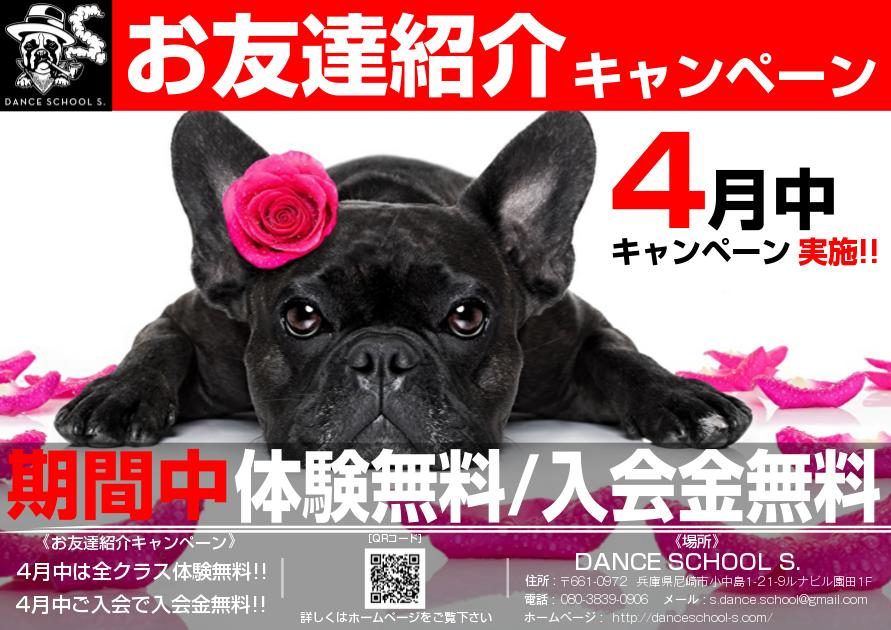 2017年春の『お友達紹介キャンペーン』を開催します!!